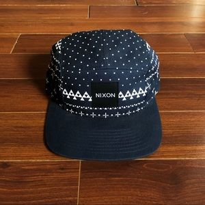 Nixon Navy Pattern Hat